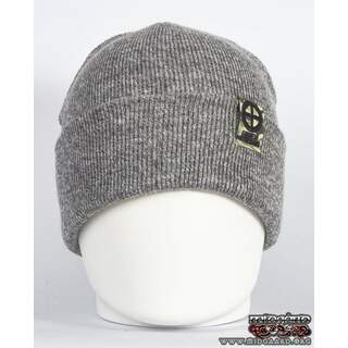 EB Beanie Camo Label – Light Grey
