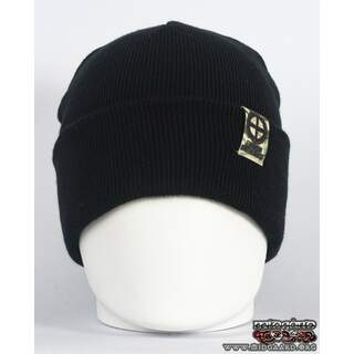 EB Beanie Camo Label – Black