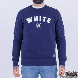 EBC10 White - Navy (sweatshirt)