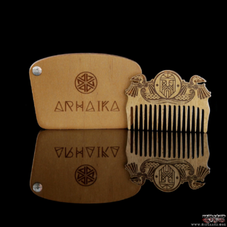 Viking Odin & Ravens Wooden Beard Pocket Comb