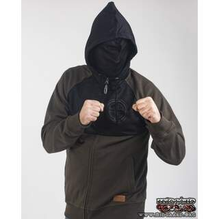 EBH13 Hooded Zip Full Mask Resistance - Army Green