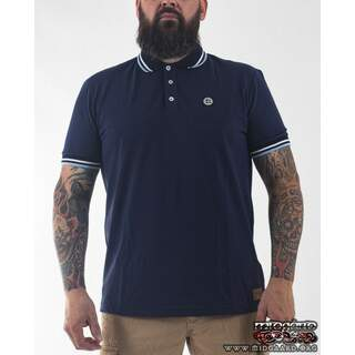 EBPO1 Short Sleeve Classic Polo –  Navy/Sky Blue