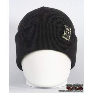 EB Beanie Camo Label – Dark Grey